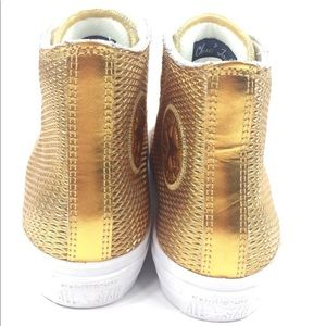 Converse Shoes - NEW Converse CTAS II Hi Shoes Sneakers Gold Size 8